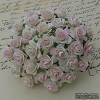 Открытые розочки, цвет бледно-розовый, диаметр - 15мм, 10 шт.