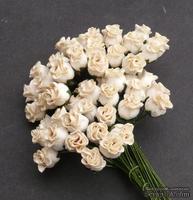 Бутоны роз, слоновая кость - темный, 10 мм, 5 шт.