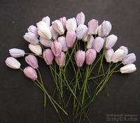 Набор тюльпанов (сиреневые и фиолетовые оттенки), 10мм, 10 шт.