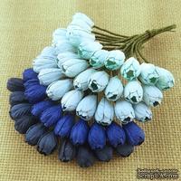Набор тюльпанов (голубые и синие оттенки), 10мм, 10 шт.