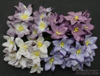 Набор лилий, микс цветов (сиреневый и фиолетовый оттенки), 30мм, 40 шт.