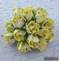 Бутоны большие дикой розы, цвет нежно-желтый, размер бутона 2 см, 1шт.