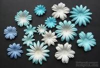Набор цветов голубых оттенков, 20-50 мм, 20 шт.