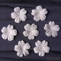 Цветы, цвет белый, диаметр - 45мм, 10 шт.