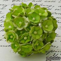 Цветочки любви - sweetheart, цвет зеленый, диаметр - 15мм, 10 шт.
