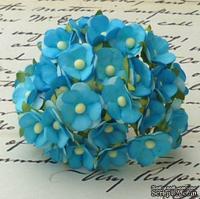 Цветочки  Sweetheart, цвет бирюза, 15мм, 10 шт.