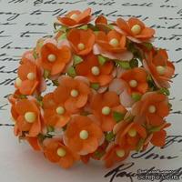Цветочки любви - sweetheart, цвет оранжевый, диаметр - 15мм, 10 шт.