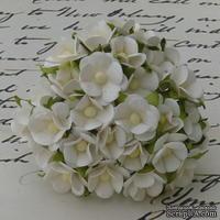 Цветочки любви - sweetheart, цвет белый, диаметр - 15мм, 10 шт.