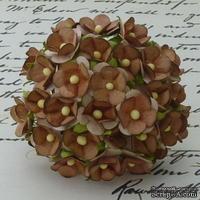 Цветочки любви - sweetheart, цвет коричневый, диаметр - 15мм, 10 шт. - ScrapUA.com