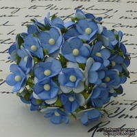 Цветочки любви - sweetheart, цвет синий, диаметр - 15мм, 10 шт.