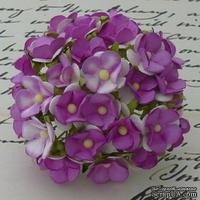 Цветочки любви - sweetheart, цвет фиолетовый, диаметр - 15мм, 10 шт. - ScrapUA.com
