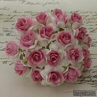 Дикая роза, цвет белый с розовой серединкой, диаметр - 30мм, 1 шт.