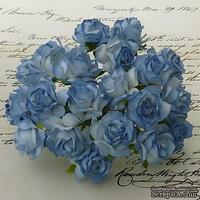 Дикая роза, цвет голубой, диаметр - 30мм, 1 шт.