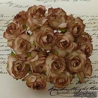 Дикая роза, цвет коричневый, диаметр - 30мм, 1 шт.