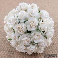 Дикая роза, цвет белый, диаметр - 30мм, 1 шт.