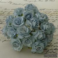 Дикая роза, цвет бледно-голубой, диаметр - 30мм, 1 шт.
