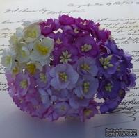 Набор цветов вишни (сиреневые и фиолетовые оттенки), 25мм, 50 шт.