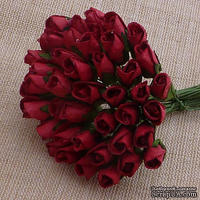Буточники розы, цвет темно-красный, диаметр - 4мм, 10 шт.