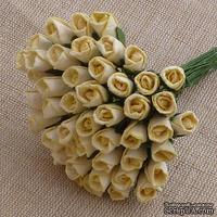 Буточники розы, цвет кремовый, диаметр - 4мм, 10 шт.