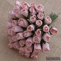 Буточники розы, цвет бледно-розовый, диаметр - 4мм, 10 шт.