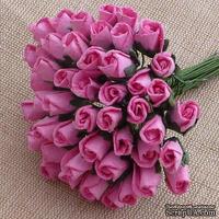 Буточники розы, цвет розовый, диаметр - 4мм, 10 шт.