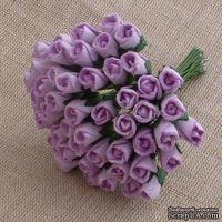 Закрытые бутоны роз, цвет сыреневый, 8 мм, 10 штук