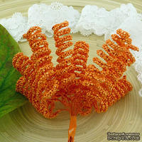 Спиралевидные тычинки, цвет - нежный оранжевый, 12 шт