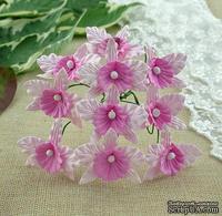 Орхидеи, цвет нежно-розовый с розовым, размер - 22х30мм, 5 шт.