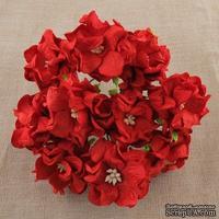 Гардения, цвет красный, 3,5см, 1 шт.