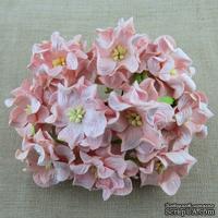 Гардения, цвет бледно-розовый, 3,5см, 1 шт.
