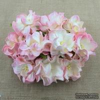 Гардения, цвет нежно-розовый с цветом слоновой кости, 3,5см, 1 шт.