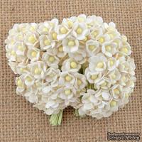Цветочки  Sweetheart, белый, 10мм, 10 шт.