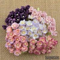 Цветы  от Thailand - Sweetheart, цвет нежно-сиреневый, 1,5 см, 100 шт.