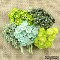 Набор цветочков Sweetheart, зеленый микс, 10 мм, 100 шт.