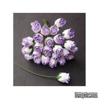 Бутоны роз от Thailand, сиреневый, 5 шт