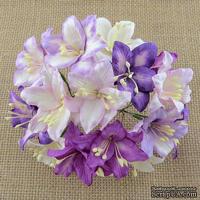 Лилии от Thailand, смешанные светло сиреневые, сиреневые, 30 мм, 50 шт