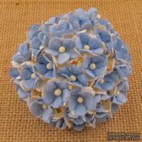 Цветочки  Sweetheart, цвет светло- голубой, 15мм, 10 шт. - ScrapUA.com