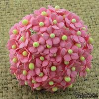 Цветочки Sweetheart, ярко-розовый, 10мм, 10 шт.