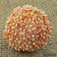 Цветочки Sweetheart, персиковый, 10мм, 10 шт.
