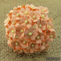 Цветочки  Sweetheart, персиковый, 15мм, 10 шт.