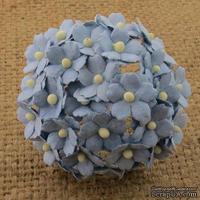 Цветочки  Sweetheart, цвет голубой, 15мм, 10 шт.