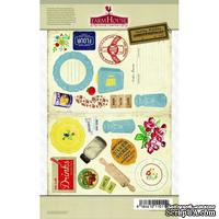 Высечки из чипборда на клеевой основе Farm House - Country Kitchen Self-Adhesive Chipboard - Secret Recipe