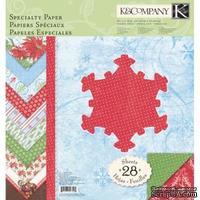 """Набор бумаги от K&Company - """"Зима (специальная)"""", размер: 31х31 см, 28 листов"""