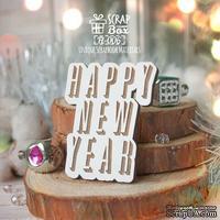 Деревянная фишка ScrapBox - Happy New Year Fl-006