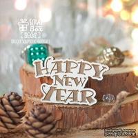 Деревянная фишка ScrapBox - Happy New Year Fl-017