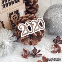 Деревянная фишка ScrapBox - Фишка 2020 Fl-033