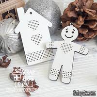 Деревянная фишка ScrapBox - Фишки для вышивки пряничный домик Fl-041