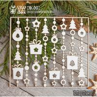 Чипборд ScrapBox - Новогодний фоновые гирлянды Hb-015