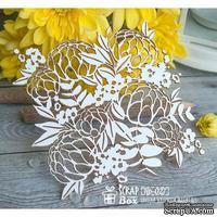 Чипборд ScrapBox - цветочный фон Hb-027