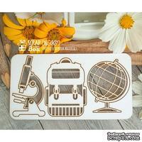 Чипборд ScrapBox - набор школьник Hc-007